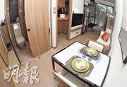 11座3樓C室示範單位屬於實用面積251方呎的開放式間隔,物業將會連裝修家俬出售。(劉焌陶攝)
