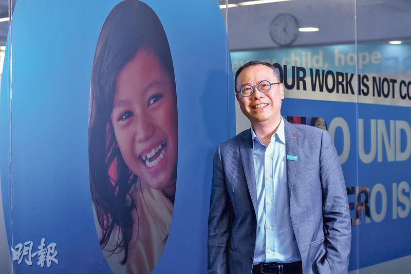 陳立業表示,香港因為擁有不少高資產的富豪,他們亦希望做一些慈善工作影響世界,所以香港的捐款仍有增長空間。(鄧宗弘攝)