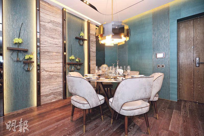 客飯廳放置六人圓餐桌後,仍見寬敞。(曾憲宗攝)