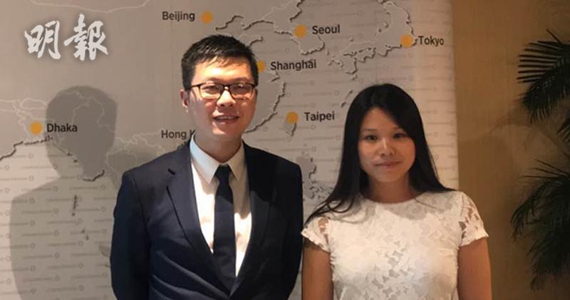 圖為德商銀行新興市場高級經濟學家周浩(左)及外匯及新興市場高級策略師Thu LAN NGUYEN(右)。