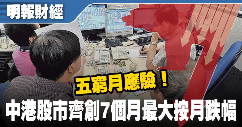 五窮月應驗!港股跌穿2萬7大關 騰訊全月重挫16%