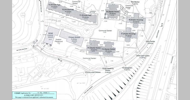 萊蒙等持有元朗地申建公私營住宅  (資料來源:城規會)