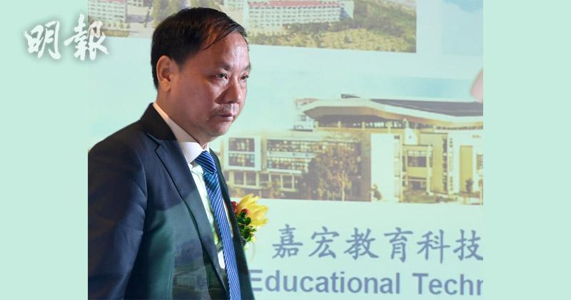 嘉宏教育主席陳余國。(劉焌陶攝)