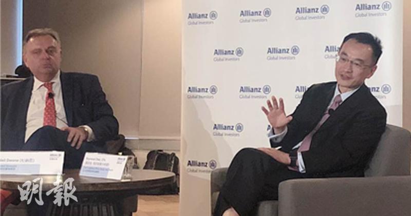 圖左為安聯投資環球投資策略師杜納恩,右為安聯投資亞太區股票首席投資總監陳致強。