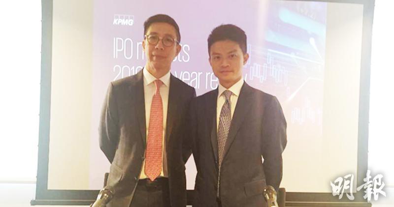 圖左為畢馬威資本市場主管兼合夥人劉國賢,右為畢馬威資本市場諮詢組合夥人劉大昌