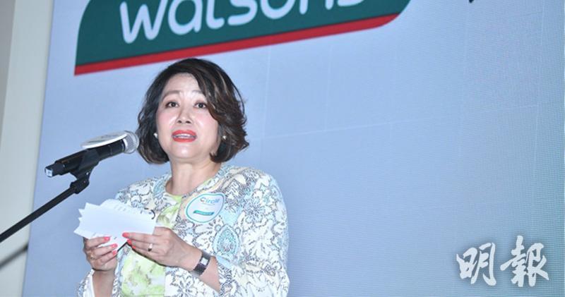 香港屈臣氏董事總經理張慧屏 (黃志東攝)