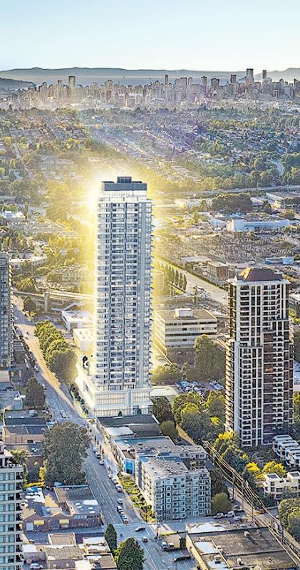 項目座落於溫哥華未來的全新市中心本拿比,將盡享地利優勢。
