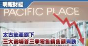 太古廣場商場首三季零售銷售額跌11.8%