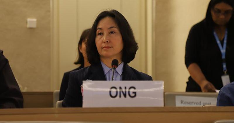 何超瓊今年9月出席聯合國人權理事會就著香港的形勢發言。