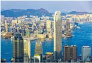 受中美貿易戰影響,加上反修例風波,香港甲廈市場低迷。(中通社)