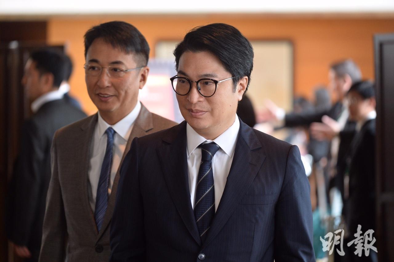 恒地聯席主席李家傑(左)及李家誠。