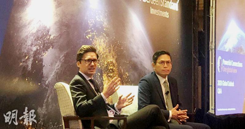 左:安本新興市場債券投資董事Mark Baker 右:安本標準投資管理中國股票主管姚鴻耀