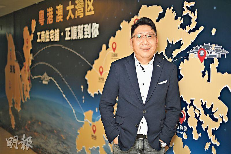 正順地產代理(香港)有限公司副總裁李海文表示,目前他仍然最看好珠海市中心住宅的升值潛力,並教路在區內買樓最重要是切記便宜莫貪,避免跌入爛尾樓陷阱。(曾憲宗攝)