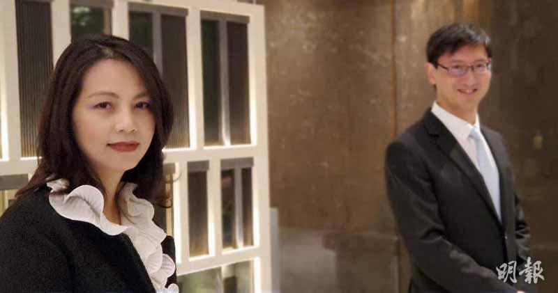 恒地韓家輝(右),旁為營業(二)部副總經理李菲如。(林可為攝)