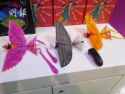 漢王科技的子公司仿翼科技嘗試開闢藍海市場,推出了一款撲翼飛行器玩具「出頭鳥」(Go Go Bird)。(薛偉傑攝)