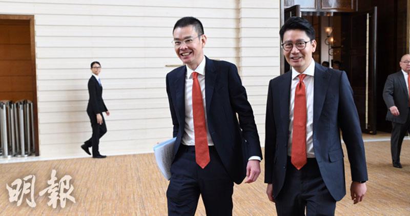 東亞延遲公布業務組合重組檢討至9月底,圖為聯席行政總裁李民橋(左)及李民斌(右)。(資料圖片)