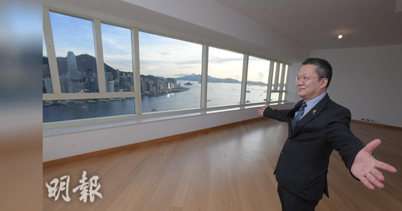 汪敦敬兩月前逾億購名鑄,他於該單位內表示,國安法可減投資風險。(劉焌陶攝)