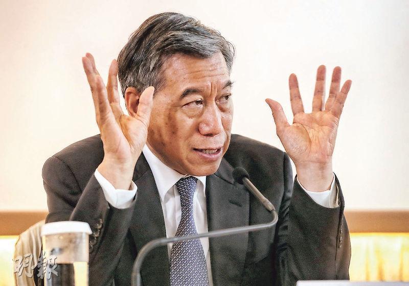 TVB昨發盈警,預期截至今年上半年業績轉盈為虧,將錄得約2.9億元淨虧損。圖為集團副主席兼行政總裁李寶安。(資料圖片)