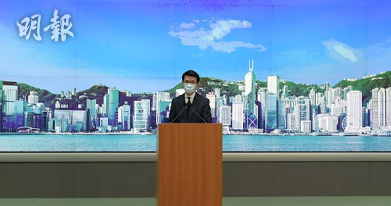 美國禁港貨標「香港製造」 邱騰華:已約見美駐港總領事促撤回(鍾林枝攝)