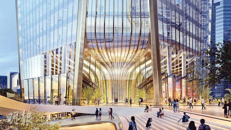 項目由國際知名建築師事務所Zaha Hadid Architects設計,外層設置可開啟的活動式玻璃幕牆,引入更多天然風,加強空氣流通。(發展商提供)