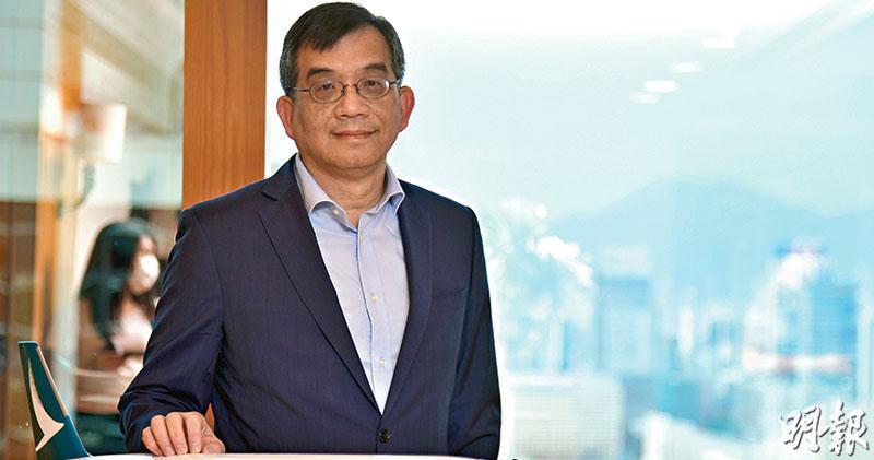 國泰行政總裁鄧健榮強調,感謝所有員工在困難期間的努力與專業。(黃志東攝)