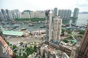 單位可飽覽香港仔避風塘及海怡半島一帶海景。(楊柏賢攝)