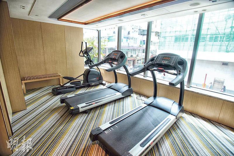 會所設於1樓,面積1780方呎,備有派對廳及健身室。(楊柏賢攝)