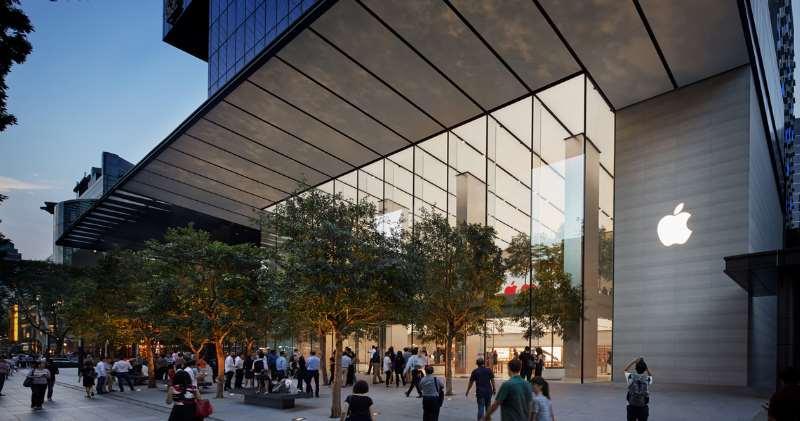 圖為蘋果在新加坡的Apple Store