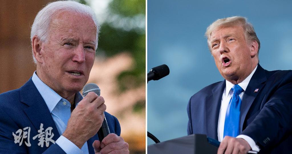 民主黨總統候選人拜登(左)、共和黨總統候選人特朗普(右)(資料圖片)