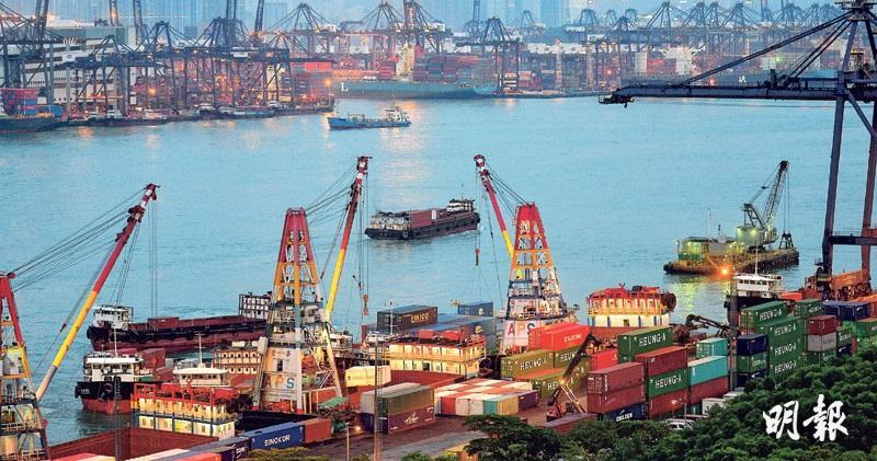 9月港出口貨量升一成