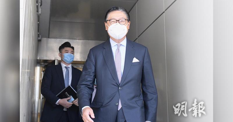 康宏案郭曉群申請遭駁回 無法就委馬時亨入董事會投票。圖為馬時亨昨日現身法庭。