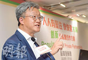 TOM集團前高層、香港我哋家有限公司王兟建議,以港人「一人一股」及發債等方式融資1.1萬億元,用於發展明日大嶼計劃。(劉焌陶攝)