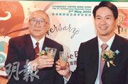 美心集團創辦人伍沾德(左)上月底離世,而美心業務近年一直由孫輩伍偉國(右)「打骰」。(資料圖片)