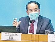 財經事務及庫務局長許正宇表示生物科技股納入滬深港通資格有待監管機構交代。(朱安妮攝)