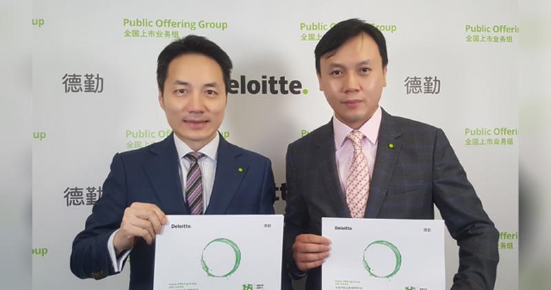 德勤料港IPO集資規模逾4000億 打破2010年記錄。圖為歐振興(左)及劉志健。