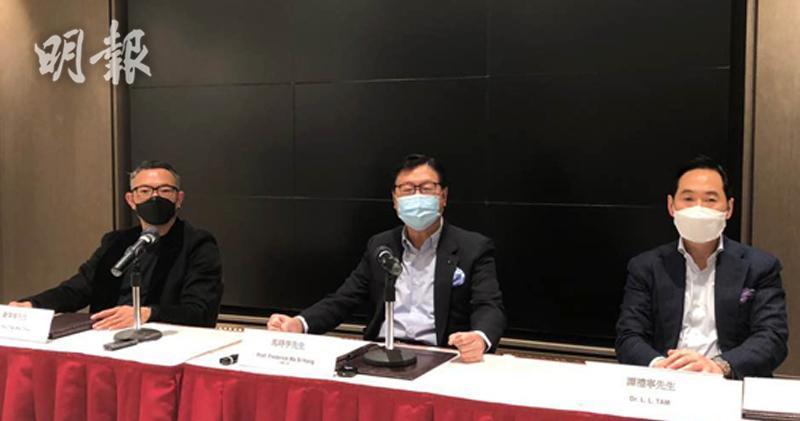 譚禮寧(右)駁康宏「謎網50」指控 指誇大報告內容。(馬迪帆攝)