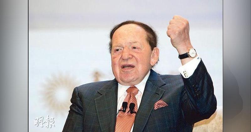 金沙中國主席兼創辦人艾德森.蕭登辭世。(資料圖片)
