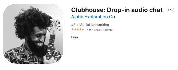 (Clubhouse Appk及網上截圖)