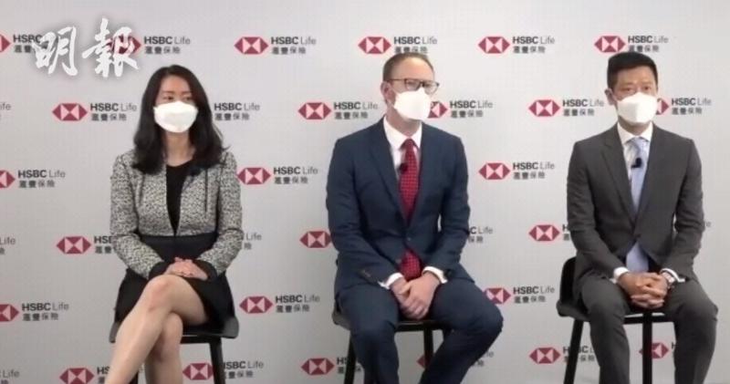 匯豐保險香港行政總裁文德華(中)