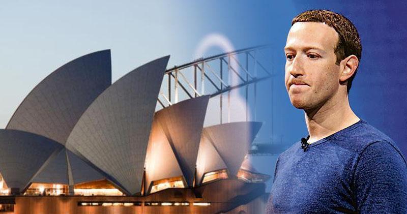 澳洲財長:將與Facebook創辦人朱克伯格(右)再談 磋商新聞付費法案