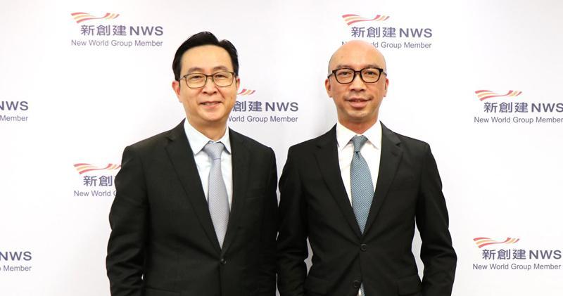 馬紹祥(左):新創建自2018年已套現160億,會維持漸進派息。右為何智恒。
