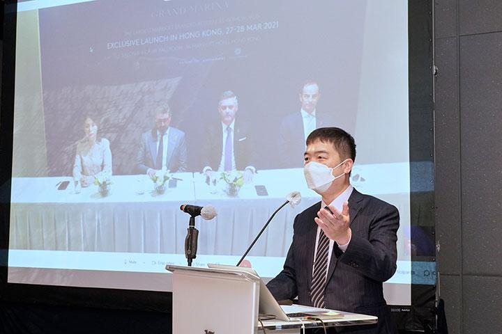 賴遠方在發布會上分享最新越南市場資訊。