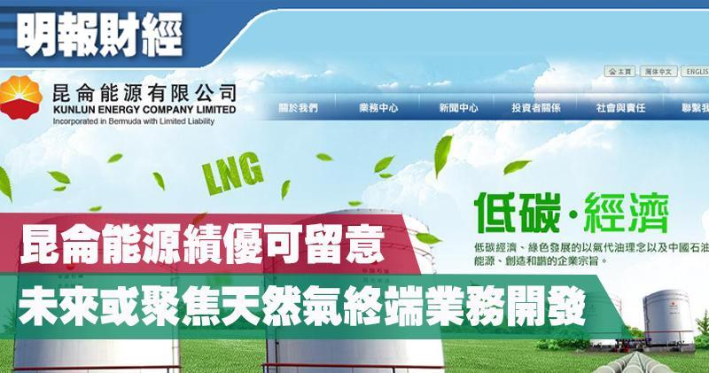 【選股王】昆侖能源績優可留意 未來或聚焦天然氣終端業務開發