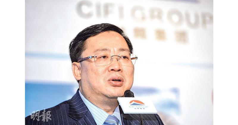 旭輝去年核心多賺16% 末期息增一成派0.243元人幣。圖為集團主席林中。