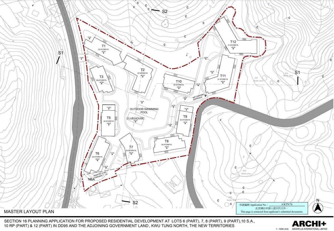 資策泛海等古洞地申建2593伙。(資料來源:城規會文件)
