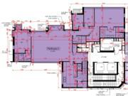 瓏珀山1期Queen Tower2的27樓A室平面圖;實用2152方呎,另設1563方呎天台。
