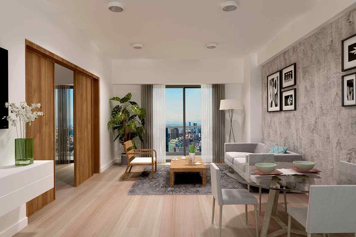 2房單位面積達647平方呎,相信會 極受家庭旅客的歡迎。