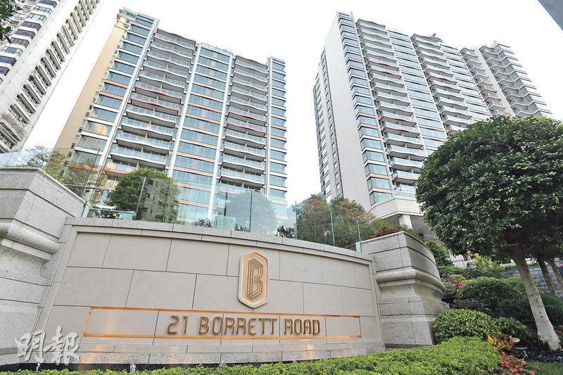 中半山波老道新盤21 BORRETT ROAD售出15樓7號室,實用2316方呎,屬4房雙套及儲物室間隔,連同兩車位,成交價1.68億元,實呎72,539元。其管理費每月2.4萬元、折合每方呎逾10元。(資料圖片)