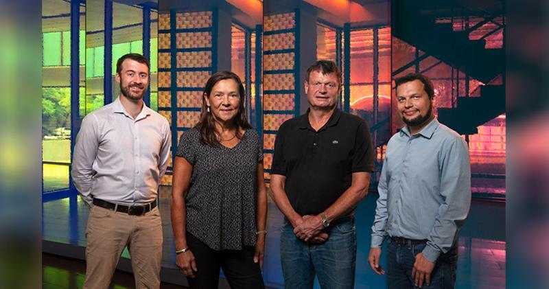 Syzygy共同創辦人,左起Trevor Best、Naomi Halas、Peter Nordlander及Suman Khatiwada。
