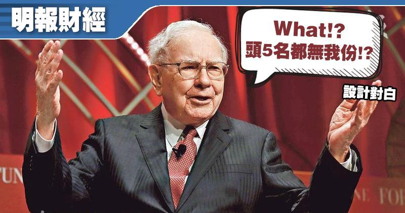 福布斯2021年富豪榜 「股神」巴菲特跌出前五名 20多年来首見